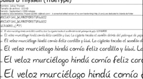 Julius Handwriting-Derived fonts 4.5